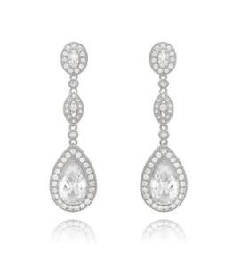 Victoria Silver Drop Earrings
